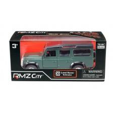 Машина металлическая RMZ City 1:32 Land Rover Defender, инерционная, темно-зеленый матовый цвет, 16.5 x 7.5 x 7 см (UNI-FORTUNE Toys Industrial Ltd., 554006M(C))