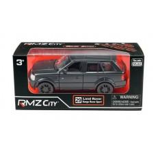 Машина металлическая RMZ City 1:32 Range Rover Sport, инерционная, черный матовый цвет, 16.5 x 7.5 x 7 см (UNI-FORTUNE Toys Industrial Ltd., 554007M)