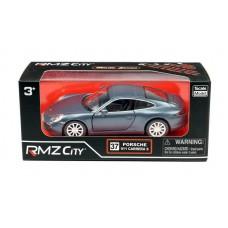 Машина металлическая RMZ City 1:32Porsche 911 Carrera S (2012), инерционная, темно-синий матовый цвет, 16.5 x 7.5 x 7 см (UNI-FORTUNE Toys Industrial Ltd., 554010M(A))