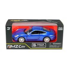 Машина металлическая RMZ City 1:32 Porsche 911 Carrera S, инерционная, цвет синий металлик (UNI-FORTUNE Toys Industrial Ltd., 554010Z(E))