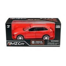 Машина металлическая RMZ City 1:32 Porsche Cayenne Turbo, инерционная, красный матовый цвет (UNI-FORTUNE Toys Industrial Ltd., 554014M(B))