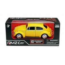 Машина металлическая RMZ City 1:32 Volkswagen Beetle 1967, инерционная, желтый матовый цвет, 16.5 x 7.5 x 7 см (UNI-FORTUNE Toys Industrial Ltd., 554017M(B))