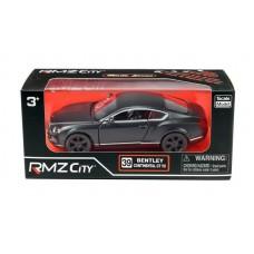 Машина металлическая RMZ City 1:32 Bentley Continental GT V8, инерционная, серый матовый цвет, 16.5 x 7.5 x 7 см (UNI-FORTUNE Toys Industrial Ltd., 554021M)