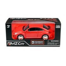Машина металлическая RMZ City 1:32 Volkswagen New Beetle 2012, инерционная, красный матовый цвет, 16.5 x 7.5 x 7 см (UNI-FORTUNE Toys Industrial Ltd., 554023M(A))