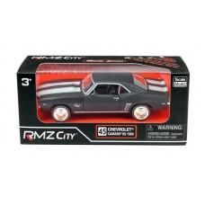 Машина металлическая RMZ City 1:32 Chevrolet Camaro 1969, инерционная, серый матовый цвет, 16.5 x 7.5 x 7 см (UNI-FORTUNE Toys Industrial Ltd., 554026M)