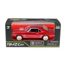Машина металлическая RMZ City 1:32 Chevrolet Camaro SS (1969), инерционная, цвет красный металлик (UNI-FORTUNE Toys Industrial Ltd., 554026Z(F))