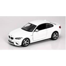 Машина металлическая RMZ City 1:32 BMW M2 COUPE with Strip инерционная  (синий/белый), 11,80х4,90х3,73 см (UNI-FORTUNE Toys Industrial Ltd., 554034)