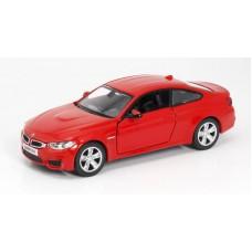 Машина металлическая RMZ City 1:32 BMW M4 COUPE with Strip инерционная  (золотистая/красная), 12,60х4,83х3,57 см (UNI-FORTUNE Toys Industrial Ltd., 554035)