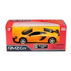 Машина металлическая RMZ City 1:32 McLaren 650S, инерционная  (желтый, синий) (UNI-FORTUNE Toys Industrial Ltd., 554992)
