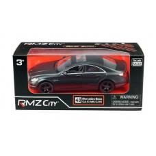 Машина металлическая RMZ City 1:32 Mercedes Benz CLS 63 AMG, инерционная, черный матовый цвет (UNI-FORTUNE Toys Industrial Ltd., 554995M)