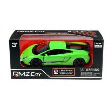 Машина металлическая RMZ City 1:36 Lamborghini Gallardo LP570-4 Superleggera, инерционная, зеленый матовый цвет