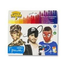 Грим АКВА для мальчиков 6 цветов 12 гр + карандаш + аксессуары