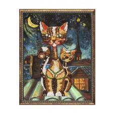Мозаика из пайеток на холсте Коты (Волшебная мастерская, МХ-02вм)