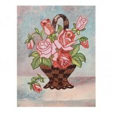 """Мозаика из пайеток на холсте """"Букет роз"""""""