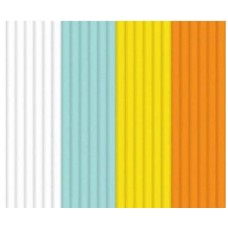 """Эко-пластик к 3Д ручке 3DOODLER """"Лёд и Пламень"""" 24 шт, 4 цвета в ассортименте (мятный, белый, желтый, оранжевый)"""