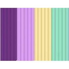 Эко-пластик к 3Д ручке 3DOODLER 24 шт, 4 цвета в ассортименте (небесно голубой, персик в сливках, розовый, фиолетовый)