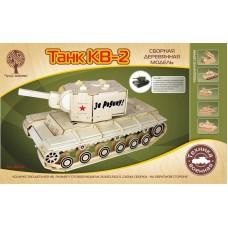 Модель деревянная сборная Танк КВ-2 (Wooden Toys, 80034)