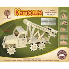 """Модель деревянная сборная """"Катюша"""" (Wooden Toys, 80052)"""