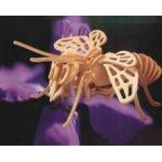 """Модель деревянная сборная """"Пчела"""" (4пласт.) (Wooden Toys, E030)"""
