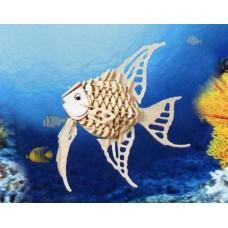 """Модель деревянная сборная """"Ангельская рыбка"""" (4пласт.) (Китай) (Wooden Toys, H010)"""