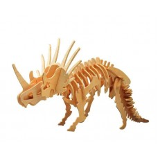 """Модель деревянная сборная """"Стриказавр"""" (4пласт.) (Китай) (Wooden Toys, J006)"""