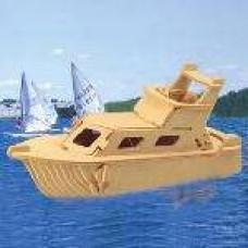 """Модель деревянная сборная """"Яхта"""" (4пласт.) (Wooden Toys, P041)"""