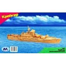 """Модель деревянная сборная """"Крейсер"""" (8пласт.) (Китай) (Wooden Toys, P047)"""