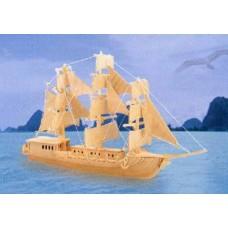 """Модель деревянная сборная """"Парусник"""" (4пласт.) (Китай) (Wooden Toys, P049)"""