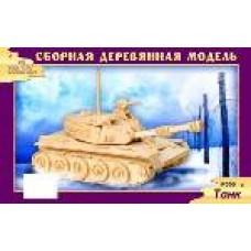 """Модель деревянная сборная """"Танк"""" (8пласт.) (Китай) (Wooden Toys, P050)"""