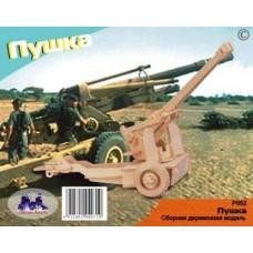 """Модель деревянная сборная """"Пушка"""" (3пласт.) (Китай) (Wooden Toys, P062)"""