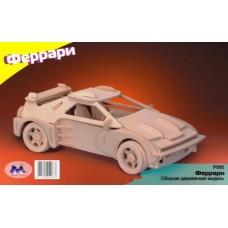 """Модель деревянная сборная """"Спорткар"""" (5пласт.) (Китай) (Wooden Toys, P065)"""