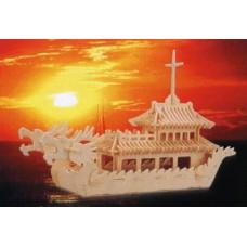 """Модель деревянная сборная """"Лодка Дракона"""" (8пласт.) (Китай) (Wooden Toys, P085)"""