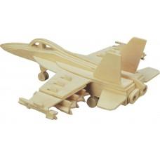 Модель деревянная сборная Бомбардировщик F18 Хорнет (4/30) (Wooden Toys, P104)