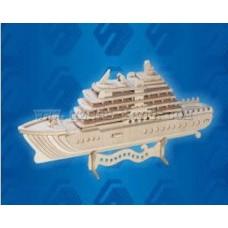 """Модель деревянная сборная """"Яхта-Люкс"""" (Китай) (Wooden Toys, P119)"""