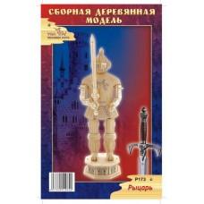 """Модель деревянная сборная """"Рыцарь 1"""" (4 пластинки) (Китай) (Wooden Toys, P173)"""