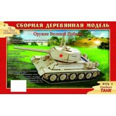 """Модель деревянная сборная """"Средний танк"""" (Китай) (Wooden Toys, P175)"""