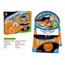 Набор для игры в Баскетбол (38.5*40*58 см.), в комплекте баскетбольное кольцо и мяч