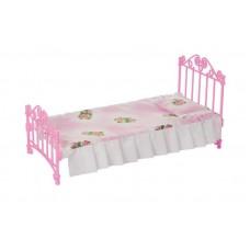 Кроватка розовая с постельным бельем (в пакете п/п)